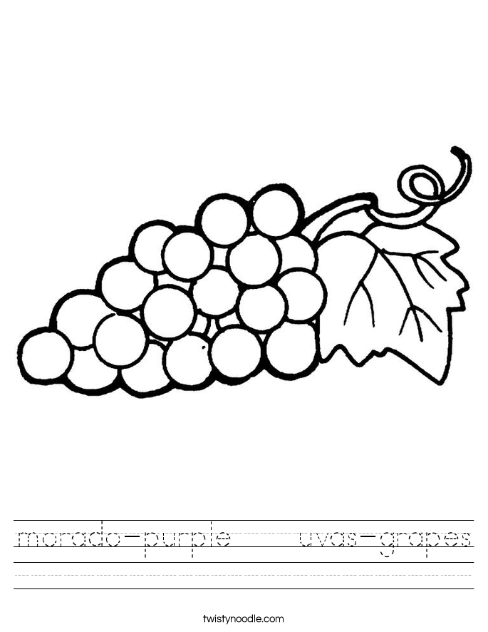 morado-purple    uvas-grapes Worksheet