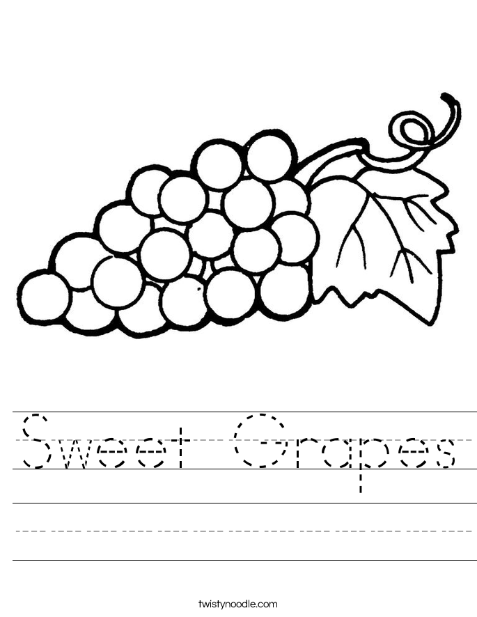 Sweet Grapes Worksheet