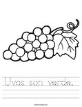 Uvas son verde.  Worksheet