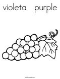 violeta   purple Coloring Page
