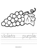 violeta   purple Worksheet