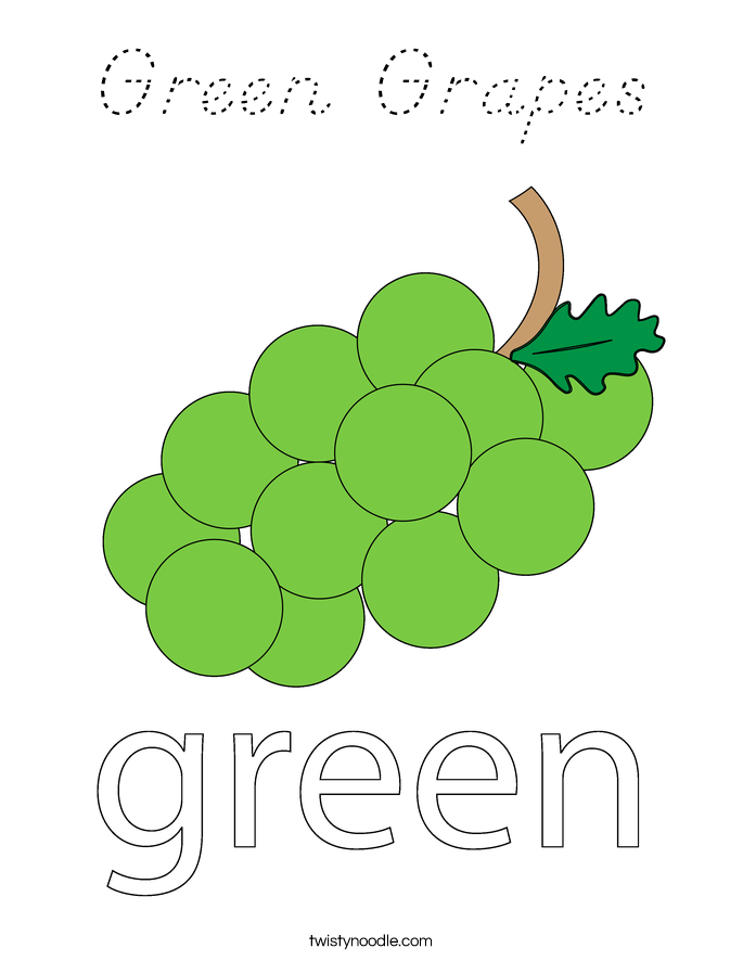 Green Grapes Coloring Page