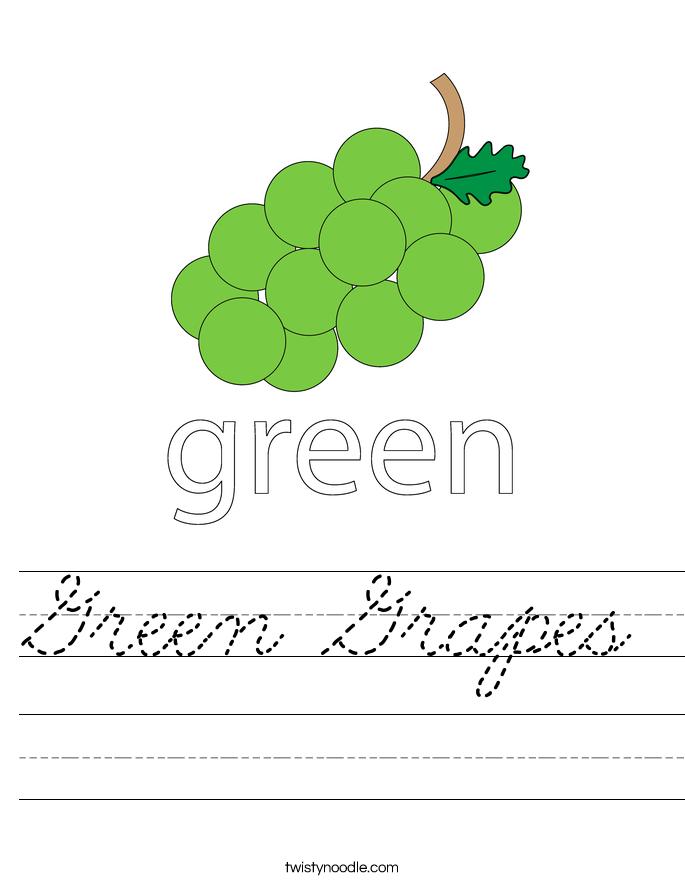 Green Grapes Worksheet