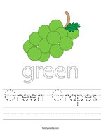 Green Grapes Handwriting Sheet