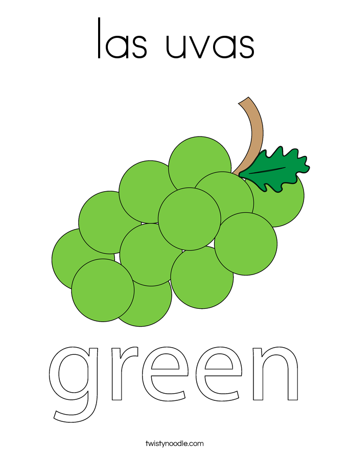 las uvas Coloring Page