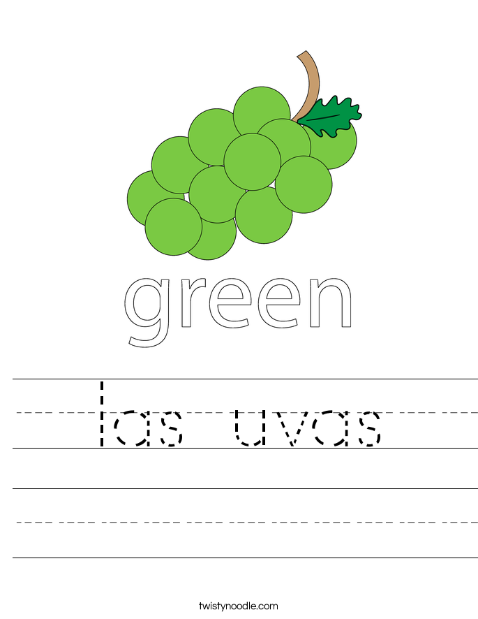 las uvas Worksheet