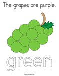 The grapes are purple.Coloring Page