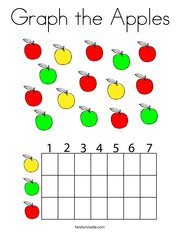 Graph the Apples Coloring Page