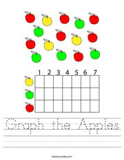 Graph the Apples Handwriting Sheet