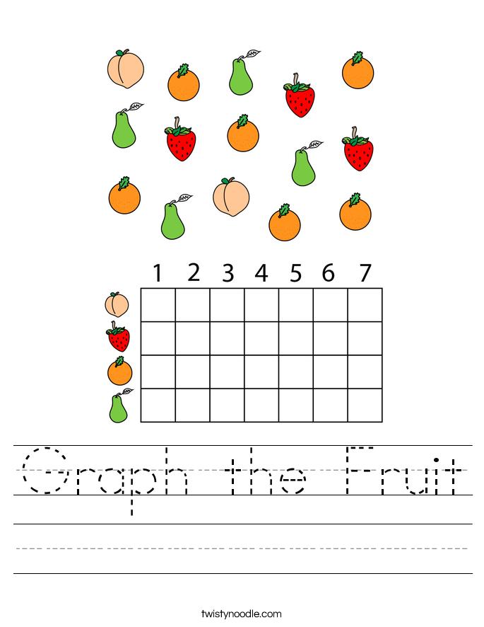 Graph the Fruit Worksheet