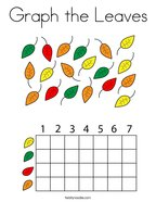 Graph the Leaves Coloring Page