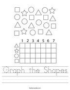 Graph the Shapes Handwriting Sheet