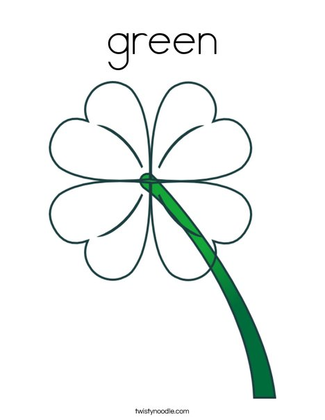 Green Clover Coloring Page