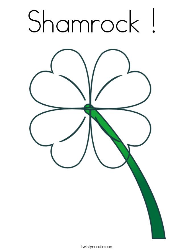 Shamrock !  Coloring Page