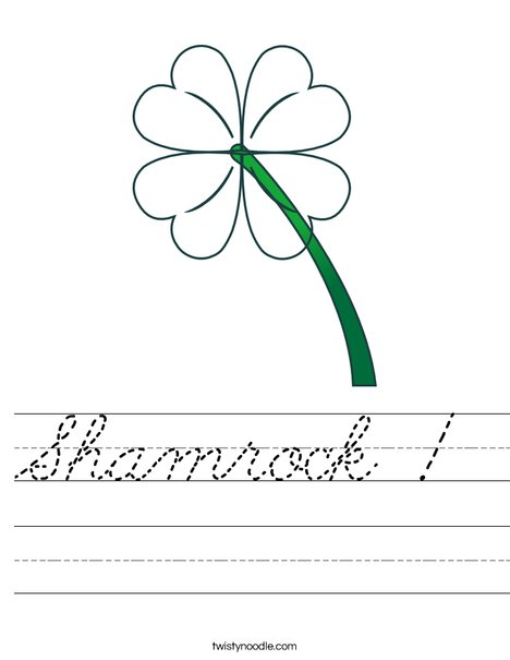 Green Clover Worksheet