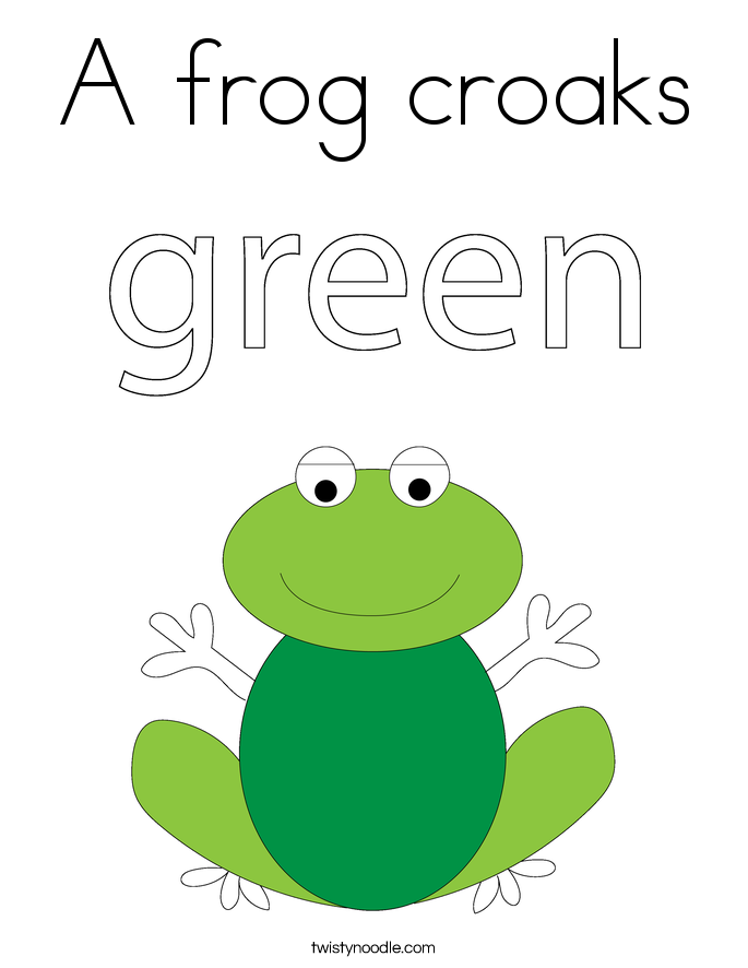 A frog croaks Coloring Page