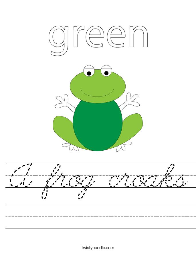A frog croaks Worksheet