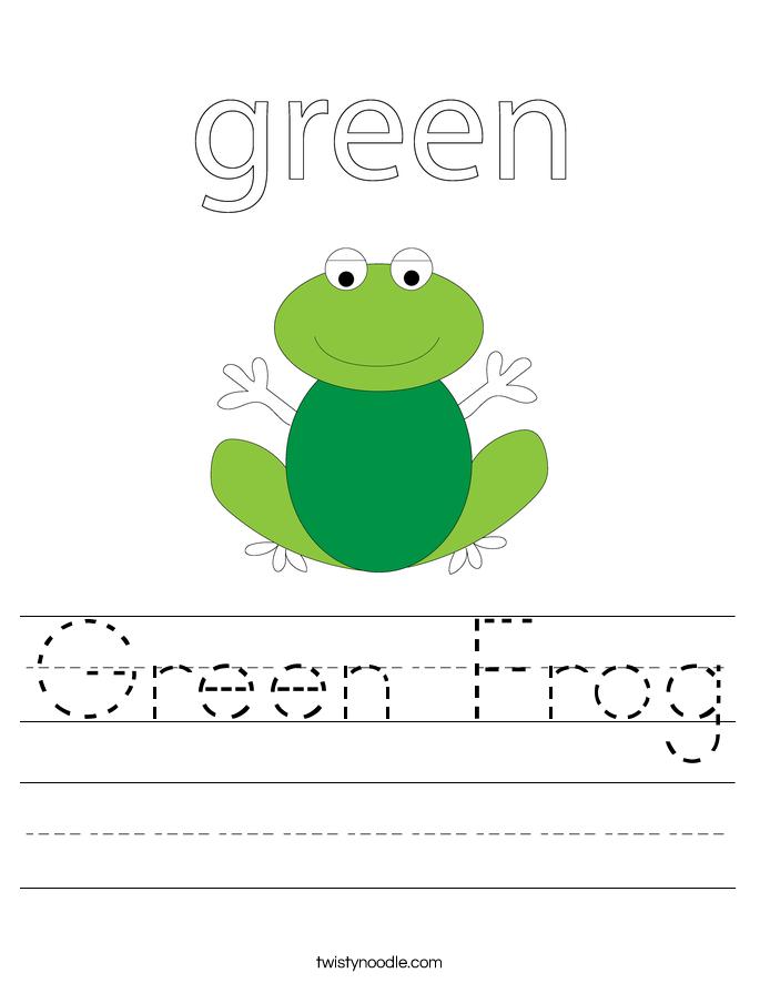 Green Worksheet: EnchantedLearning.com