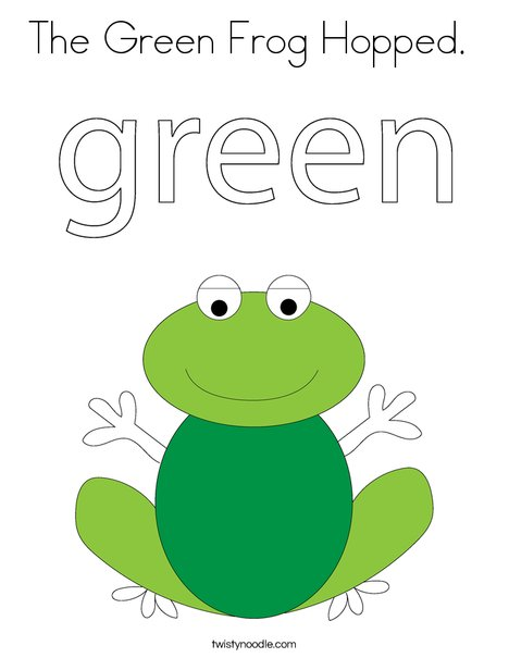 green frog coloring page - Frogs Coloring Pages