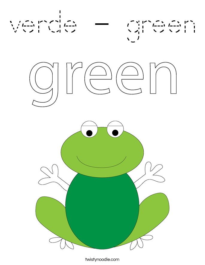 verde - green Coloring Page