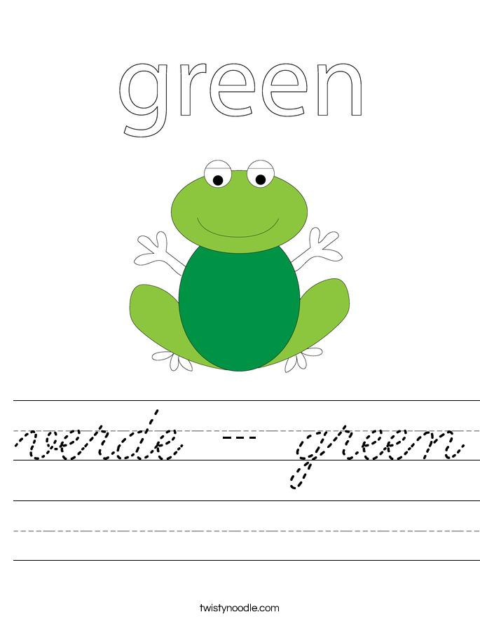 verde - green Worksheet
