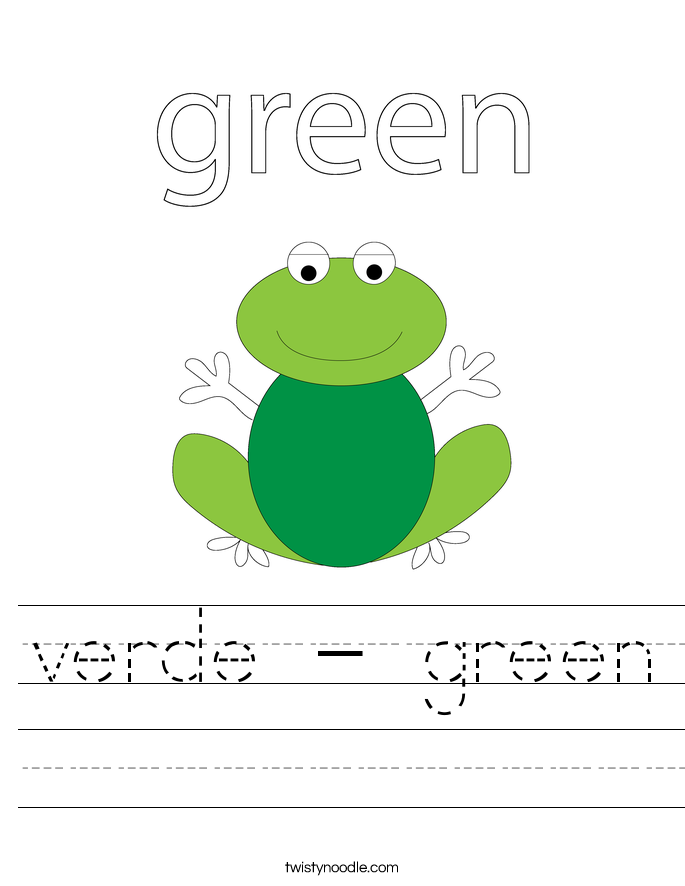 verde - green Worksheet