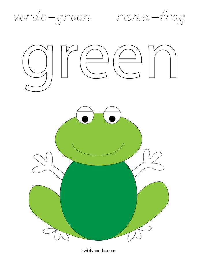 verde-green    rana-frog Coloring Page