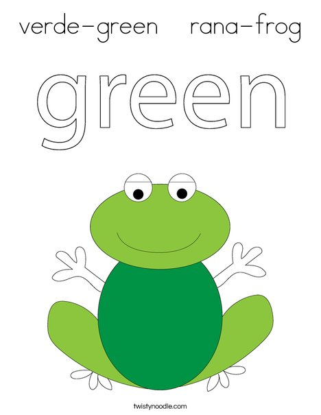 Green frog Coloring Page