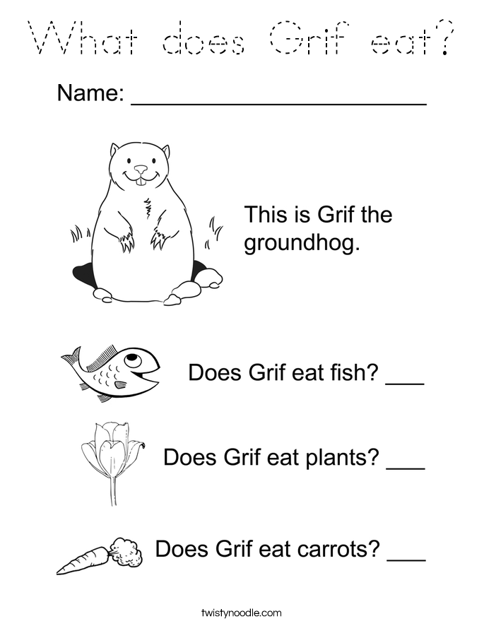 What does Grif eat? Coloring Page