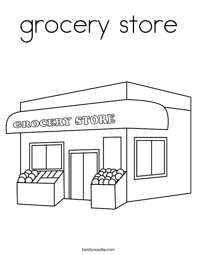 supermarket coloring pages - photo#1