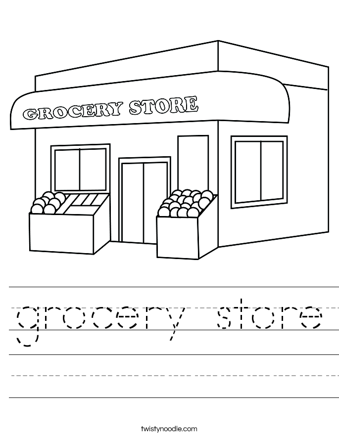 grocery store Worksheet