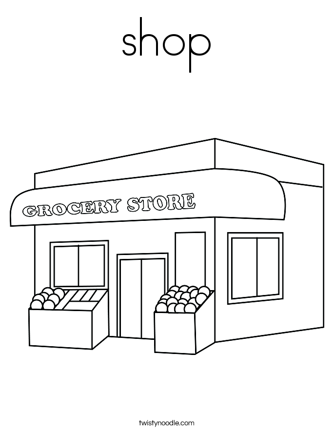 coloring pages shopping - photo#34