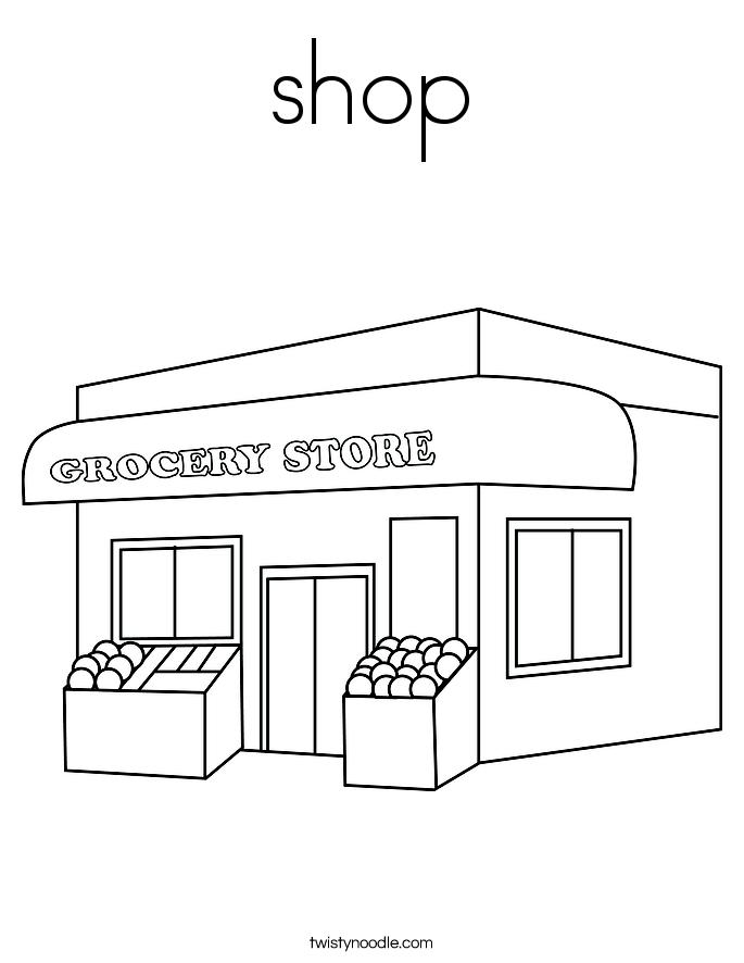 shop Coloring Page