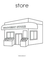 store Coloring Page