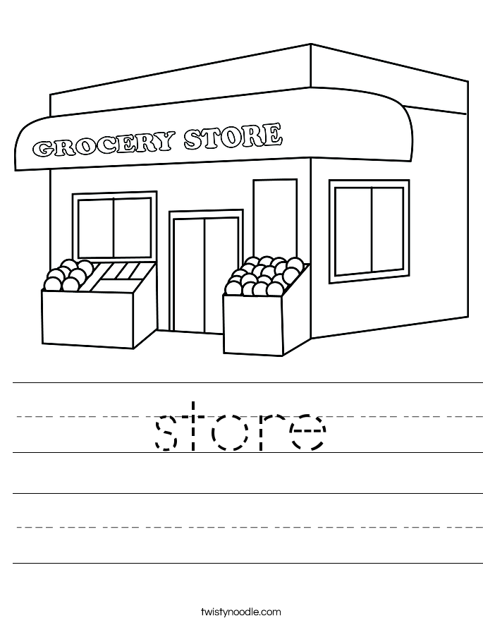 store Worksheet