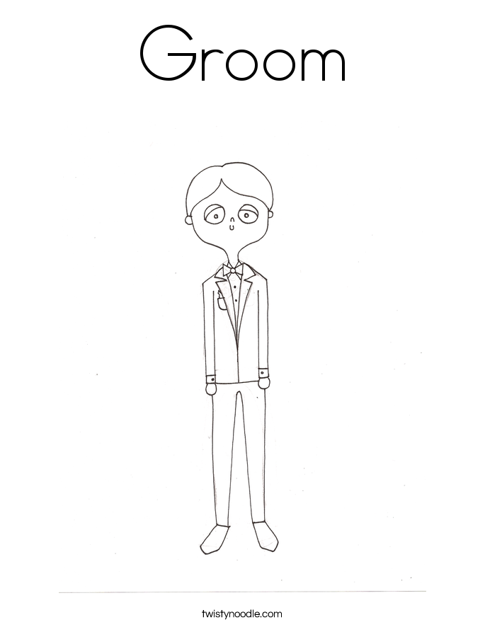 Groom Coloring Page