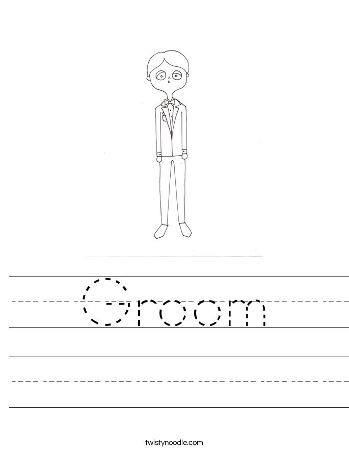 Groom Worksheet