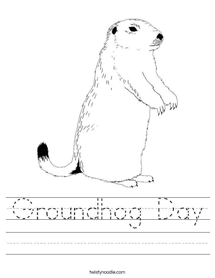 Groundhog Day Worksheet - Twisty Noodle