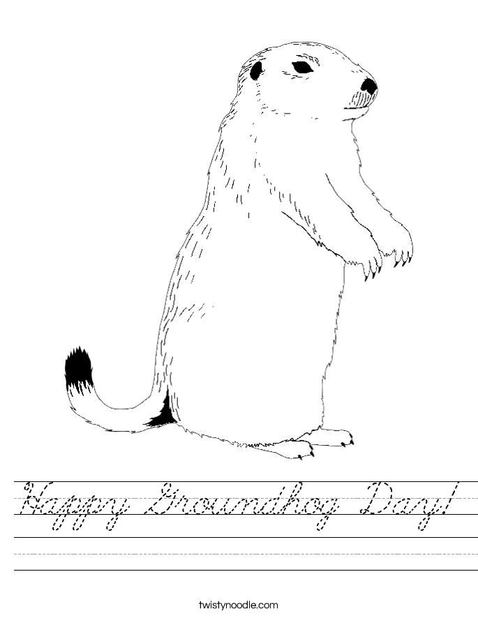 Happy Groundhog Day! Worksheet