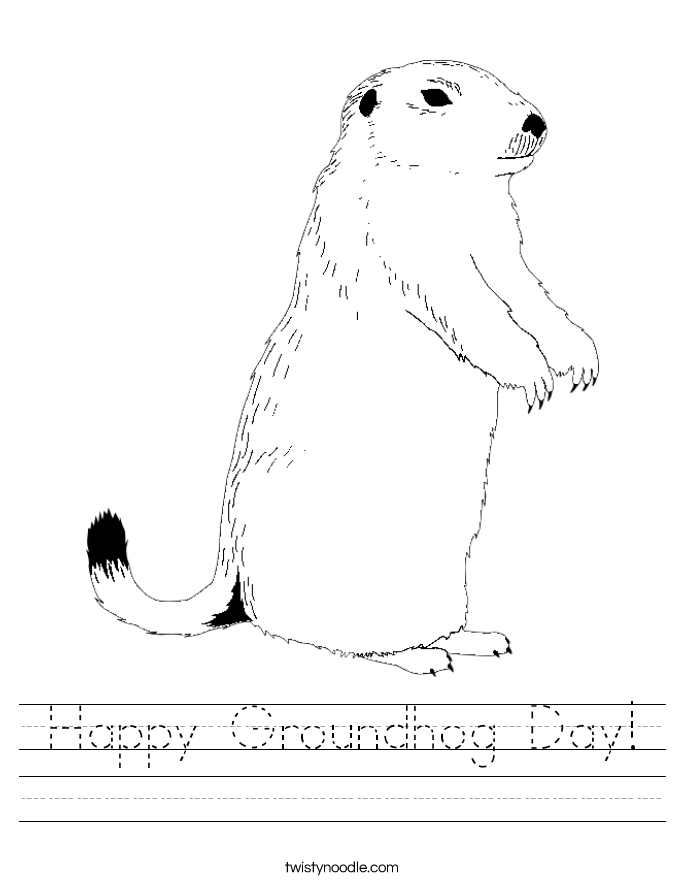 Happy Groundhog Day! Worksheet