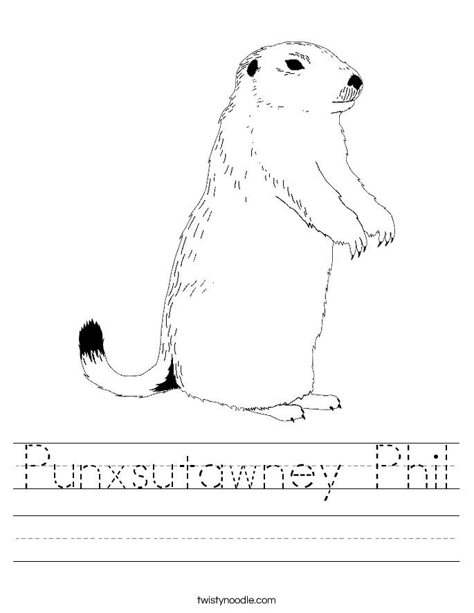 Punxsutawney Phil Worksheet