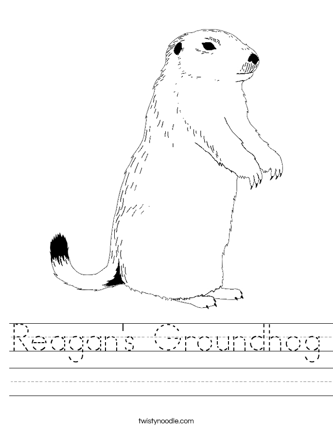 Reagan's Groundhog Worksheet