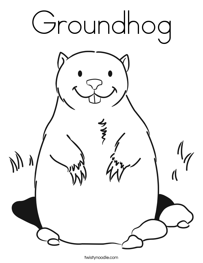 Groundhog Day Coloring Pages Fascinating Groundhog Color Sheet  Gse.bookbinder.co Design Decoration