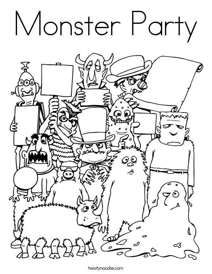 Monster and Alien Coloring Pages Twisty Noodle