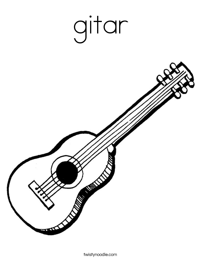gitar Coloring Page