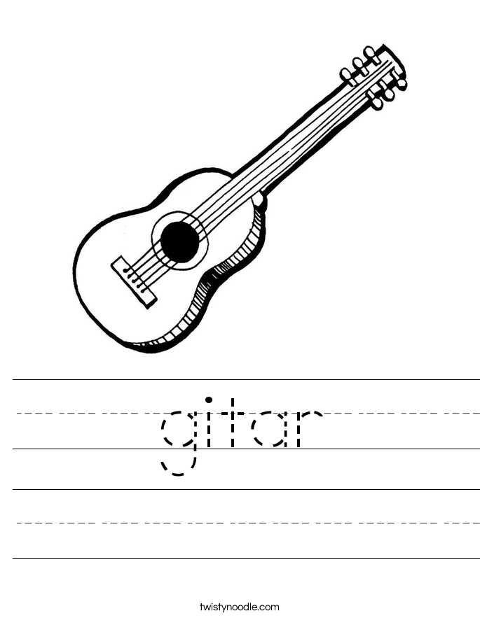 gitar Worksheet