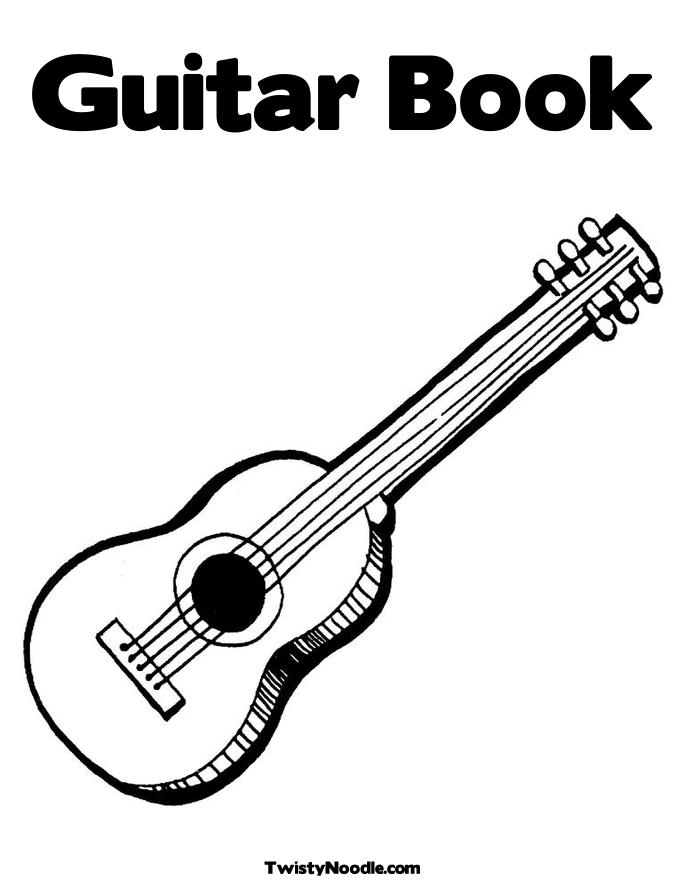 eletric guitar coloring pages - photo#34