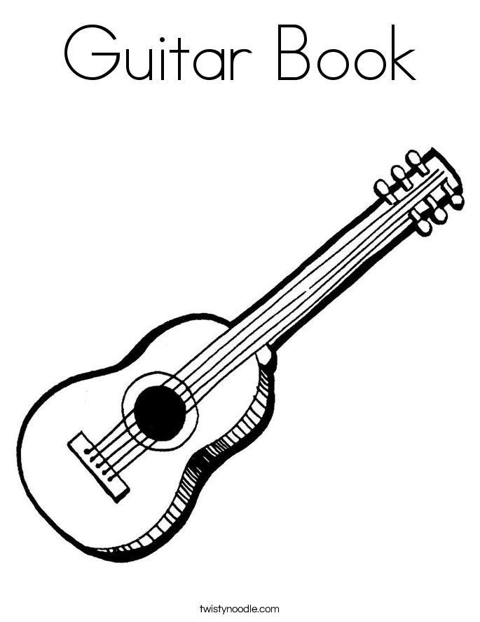Guitar Book Coloring Page