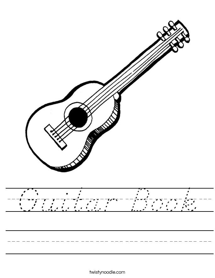 Guitar Book Worksheet