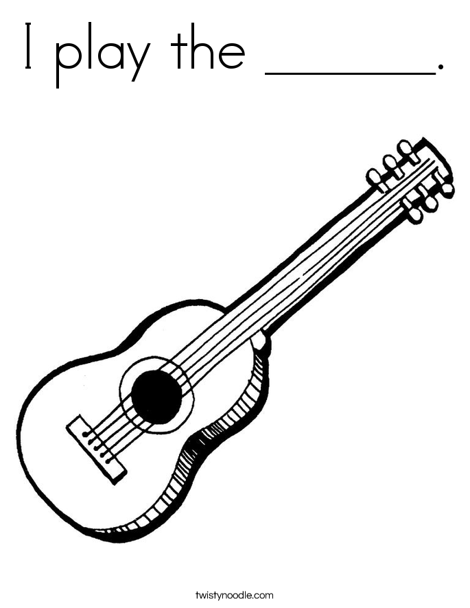 I play the ______. Coloring Page